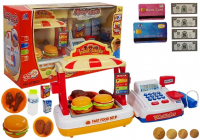 Registrierkasse mit Fast-Food-Stand