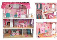 Puppenhaus Villa Milena Rosa aus Holz