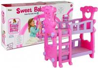Etagenbett für Puppen Pink 53 cm x 54,5 cm x 34 cm