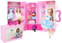 Blonde Puppe Kleidung und Schmuck Set