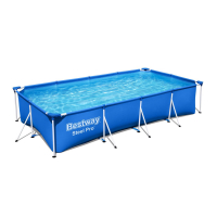 Bestway Steel Pro Frame Pool 400 x 211 x 81 cm Set mit Filterpumpe