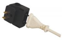 Adapterstecker für Usa/ Japan, Weiß für Alle Eurostecker 2,5 A