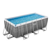Bestway Power Steel Frame Pool-Set eckig 412 x 201 x 122 cm
