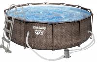 Bestway Steel Pro MAX Frame Pool Komplett-Set 366 x 100 cm