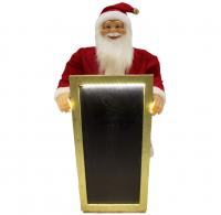 Weihnachtsmann Santaclaus Nikolaus Wotan mit LED Tafel, 90 cm