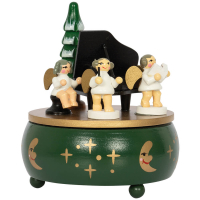 Saico Spieluhr Engel mit Klavier mit Lied Oh Tannenbaum