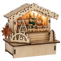 Saico LED-Weihnachtsmarkthütte Spielzeugverkäufer