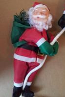 4 x Weihnachtsmann, Santaclaus hängend an Seil 1,75 Meter