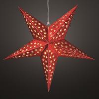 Hellum LED-Weihnachtsstern 60 cm warmweiß/rot batteriebetrieben