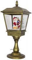 Christmas Paradise Schneiende LED Tischlaterne 60 cm, Santa gold