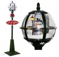 Christmas Paradise Schneiende LED Stand-Laterne 175 cm, grün, mit Schneemann