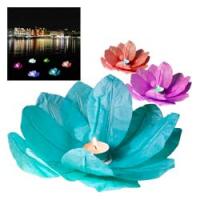 Wasserlaterne Lotusblume mit Teelicht Schwimmlaterne 6 Stück