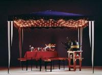 Hellum LED-Pavillon-Netz 200 BS warmweiss weiss aussen