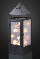 Hellum LED-Laterne aus Metall schwarz