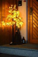 Hellum LED-Baum Ahorn braun 95cm warmweiss aussen