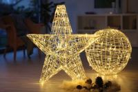 Hellum LED-Stern zerlegbar 160 BS warmweiss innen