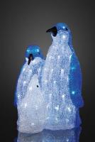 Hellum LED-Pinguin-Familie 96 BS weiß/transparent außen