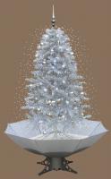 Weihnachtsbaum mit Schneefall Schnee LED Licht Musik 2 m WEISS
