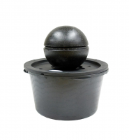 Ubbink DUBAI - Terrazzo-Kugel mit LED-Beleuchtung - 90l (Ø68xH36cm), 900l/h, Ring 36 LEDs weiß - Ø36 cm