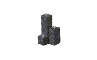 Ubbink TARANTO - Drei Granitsäulen - 90l (Ø68xH36cm), H15/30/45 x 12 x 12 cm
