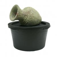 Ubbink LARISSA - Keramik Amphore im weiß-gesprenkelten Antik-Look - 90l (Ø68xH36cm), 900l/h - H30 x 53 x 34 cm