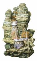 Ubbink MIAMI - Polyresin, naturgetreue Nachbildung, integrierter Wasserfall - 6000l/h, 4x8 LEDs weiß - H157 x 106 x 83 cm