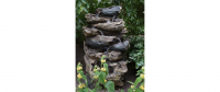 Ubbink OAKLAND - Polyresin, naturgetreue Nachbildung, integrierter Wasserfall, - 1600l/h, 7x8 LEDs weiß - H152 x 90 x 68 cm