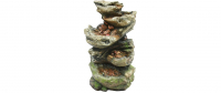 Ubbink NORFOLK - Polyresin, naturgetreue Nachbildung, integrierter Wasserfall - 1600l/h, 4x8 LEDs weiß - H119 x 75 x 53 cm