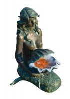 Ubbink OSLO - Polyresin - Wasserspiel in Bronzeoptik - 600l/h, Anschlussmaterial, 1x8 Leds - H78 x 34 x 46 cm