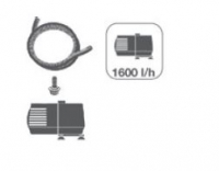 Ubbink NOVA SCOTIA - Polystone - 3 Wasserfall-Schalen - 1600l/h, Anschlussmaterial, 4m Schlauch, Folie (0,5mm/1,2x5m) - +/- Ø35/45/55 cm