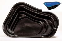 Ubbink START 500 - Fertigteich - HDPE, Oberfläche 2,12 m², max. Tiefe 50 cm, Fassungsvermögen 500 l - H50 x 179 x 140 cm