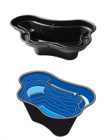 Ubbink CALMUS SII - Fertigteich - HDPE, Oberfläche 1,00 m², max. Tiefe 45 cm, Fassungsvermögen 220 l - H45 x 135 x 90 cm