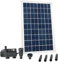 Ubbink SOLARMAX 600 - Springbrunnenpumpe -Solarpaneel, Batterie ohne Akkuspeicher, Qmax(l/h) 610, 10W, Hmax(m) 1,70 - Vulkan und Wasserglocke
