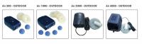 Ubbink AIR 2000 OUTDOOR - Belüftungspumpe, 1x Luftschlauch 5m, 1x Belüfterstein, Inkl. Ersatzmembran, 14w - 1800 l/h
