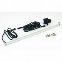Ubbink LED STRIP 60 - Beleuchtung für Wasserfall - Trafo 230VAC/12VAC-50Hz, 35 LEDs kaltweiß, Kabel 5 m - LED: 240 Lumen, EEK A+, 4w - L60 cm