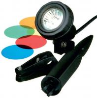 Ubbink MULTIBRIGHT 20 LED - Unterwasserleuchte, 4 Farbscheiben pro Leuchte, Trafo 230VAC/12V, MR16 20 LED weiß - 180 Lumen, EEK A+, 3W