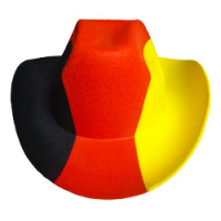 Fussball FAN-HUT Deutschland Cowboy-Hut WM Fasching