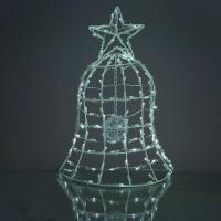 Hellum Solar-LED-Weihnachtsglocke 130 BS weiß außen