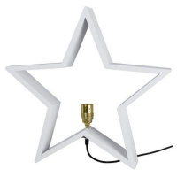 STAR Trading Holzstern LYSeKIL 52 cm weiß
