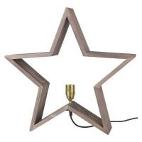 STAR Trading Holzstern LYSeKIL 52cm natur/braun