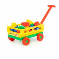 Handwagen mit Babybausteinen 34 -tlg.