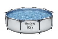 Bestway Steel Pro MAX Frame Pool, 305 x 76 cm, ohne Pumpe