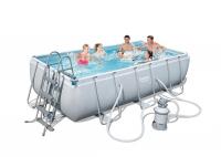 Bestway Frame Pool Power Steel Set, 404 x 201 x 100 cm mit Sandfilter