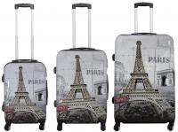 Kofferset 3 tlg. Trolleyset Reisekoffer Hartschale PARIS II