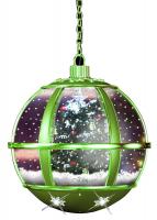 Christmas Paradise Schneiende LED Hängelaterne 35 cm, Baum