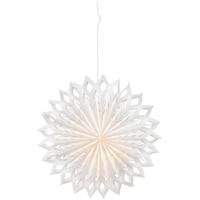 Konst Smide Weihnachtsstern doppelwandiges weißes Papier mit Mustern