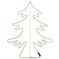 RiBa-Living LED-Tannenbaum LED-Lichtschlauchmotiv grüne LEDs