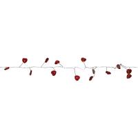 Best Season LED-Clusterkette 72 rote Herzen LED