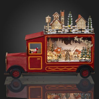 Hellum LED-Lastwagen m. Winterszene/Stadt 15 BS warmweiß innen