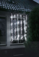 STAR Trading LED-Lichtvorhang Waterfall 256 BS weiß/transp.